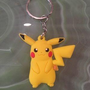 Pikachu Rubber Keychain